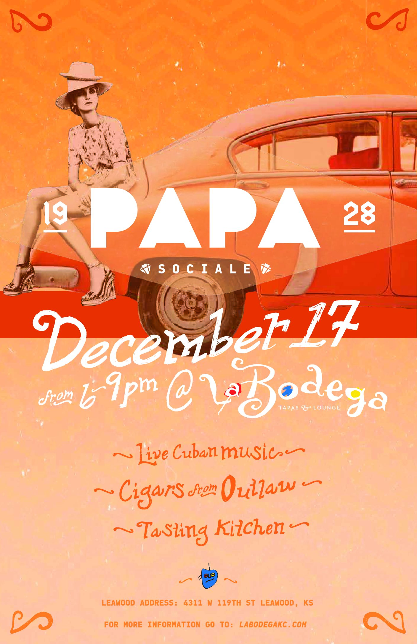 PAPA's Sociale Cuban Pop up at La Bodega Leawood